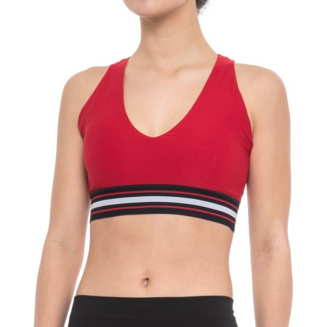 Mondetta Sophia Sports Bra - Low Impact, Removable Cups (For Women) in Red