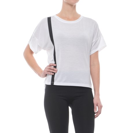 Mondetta Thelma Slub Jersey Shirt - Short Sleeve (For Women) in White
