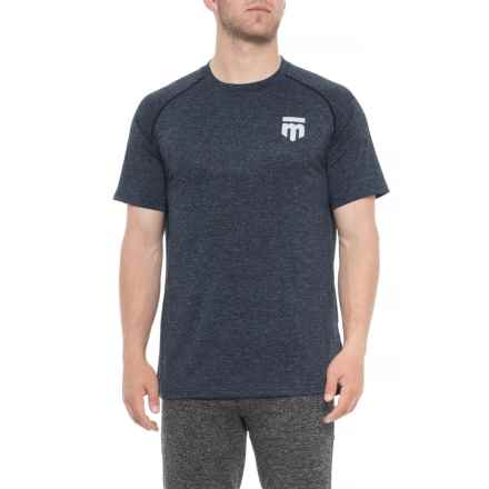 Mongoose High-Performance T-Shirt - Short Sleeve (For Men) in Heather Navy - Closeouts