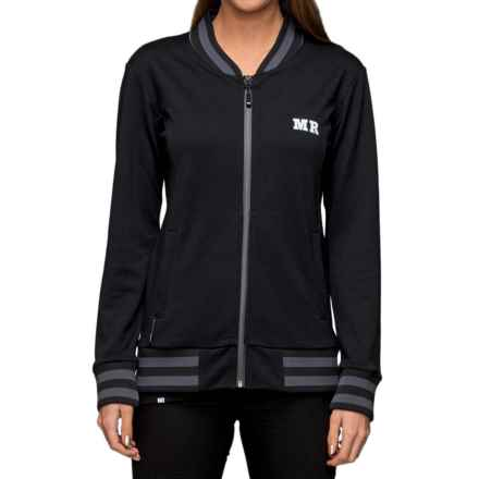 Mons Royale Bomber Jacket - Merino Wool (For Women) in Black - Closeouts