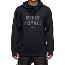 Mons Royale Hoodie - Merino Wool (For Men) in Black - Closeouts