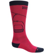 Mons Royale Lift Access Ski Socks - Merino Wool, Over the Calf (For Men) in Red/Navy - Closeouts