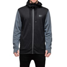 Mons Royale Mid Hit Hoodie - Merino Wool, Front Zip (For Men) in Black/Charcoal - Closeouts