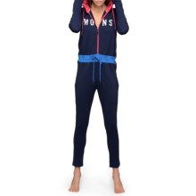 Mons Royale Monsie Icon Base Layer Union Suit - Merino Wool, Hooded, Long Sleeve (For Women) in Navy/Hot Pink/Bay Blue - Closeouts