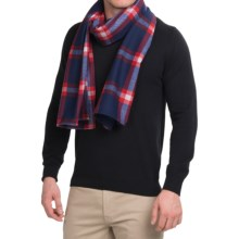 Mons Royale Mountain Flannel Scarf - Merino Wool (For Men and Women) in Navy/Red Check - Closeouts