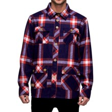 Mons Royale Mountain Shirt - Merino Wool Blend, Long Sleeve (For Men) in Navy/Red Check - Closeouts