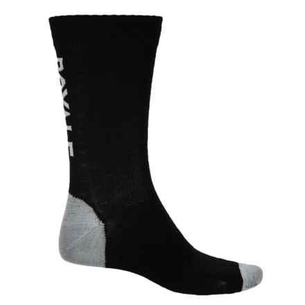 Mons Royale Tech Bike Socks - Merino Wool, Crew (For Men) in Black/Grey - Closeouts