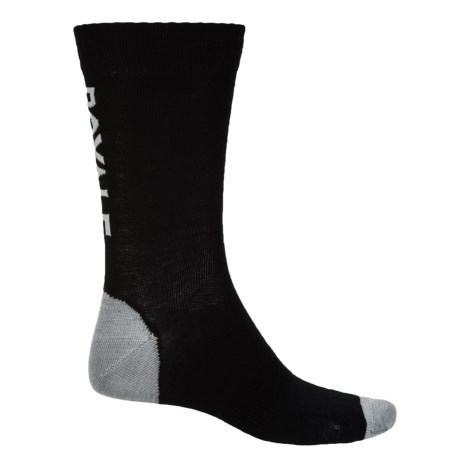 Mons Royale Tech Bike Socks - Merino Wool, Crew (For Men) in Black/Grey