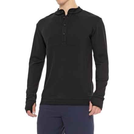 Mons Royale The 19th Button Down Shirt - Merino Wool, Long Sleeve (For Men) in Black - Closeouts