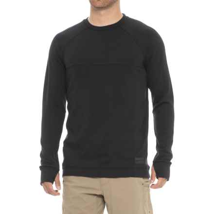 Mons Royale The 19th Jersey Crew Shirt - Merino Wool, Long Sleeve (For Men) in Black - Closeouts