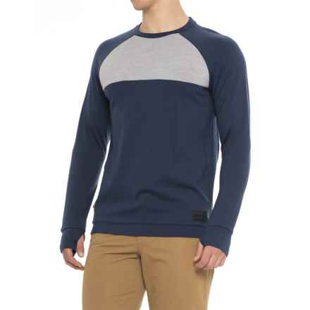 Mons Royale The 19th Jersey Crew Shirt - Merino Wool, Long Sleeve (For Men) in Navy/Grey Marl - Closeouts