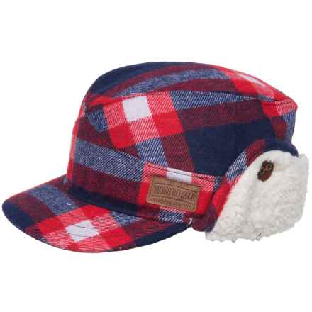 Mons Royale Woodchopper Hat - Ear Flaps (For Men and Women) in Navy/Red Check - Closeouts