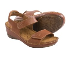 Montana Alena Leather Sandals (For Women) in Nutmeg - Closeouts