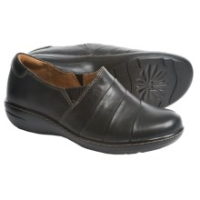 Montana Cayla Leather Shoes - Slip-Ons (For Women) in Black - Closeouts