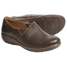 Montana Cayla Leather Shoes - Slip-Ons (For Women) in Coffee - Closeouts
