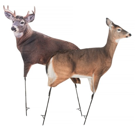 Montana Decoy Dream Team Deer Decoy - Whitetail Buck and Doe Combo in See Photo