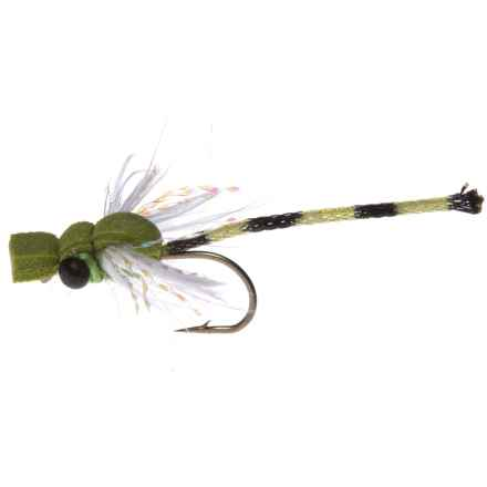 Montana Fly Company Adult Damsel Dry Fly - Dozen in Olive - Closeouts