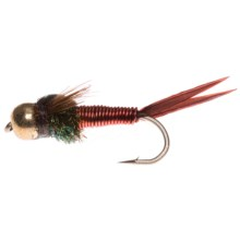 Montana Fly Company Beadhead Epoxyback Copper Nymph Fly - Dozen in Red - Closeouts