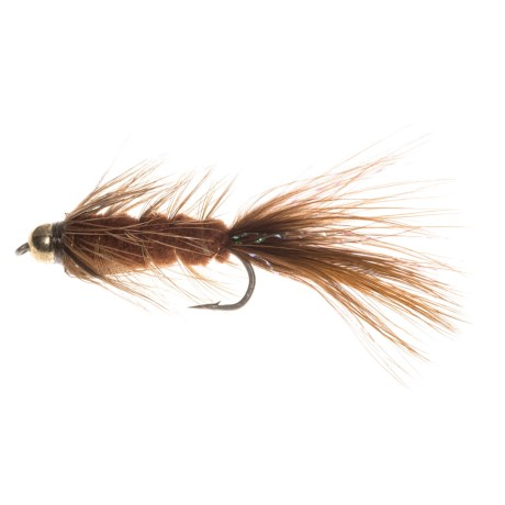 Montana Fly Company Beadhead Woolly Bugger Streamer Fly - Dozen in Brown