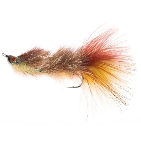 Montana Fly Company Coffey's Articulated Sparkle Minnow Streamer Fly - Dozen in Brownie