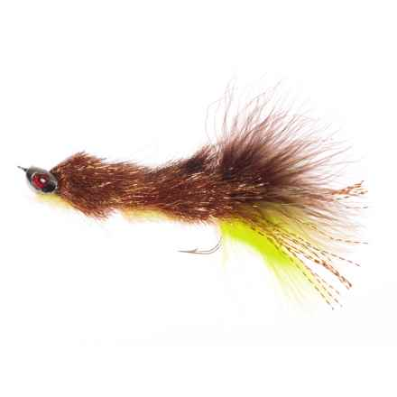 Montana Fly Company Coffey's Articulated Sparkle Minnow Streamer Fly - Dozen in Jj - Closeouts
