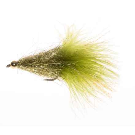 Montana Fly Company Coffey's Sparkle Minnow Streamer Fly - Dozen in Light Olive - Closeouts