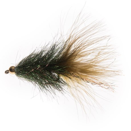 Montana Fly Company Coffey's Sparkle Minnow Streamer Fly - Dozen in Peacock