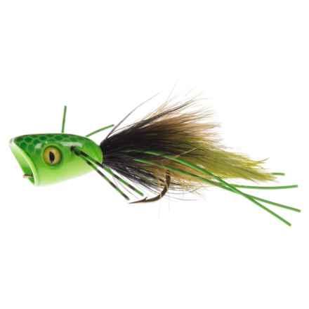 Montana Fly Company Double-Barrel Popper Bass Fly - Dozen in Green - Closeouts