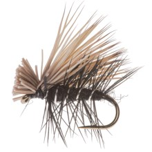 Montana Fly Company Elk Hair Caddis Dry Fly - Dozen in Black - Closeouts