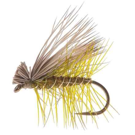 Montana Fly Company Elk Hair Caddis Dry Fly - Dozen in Olive - Closeouts