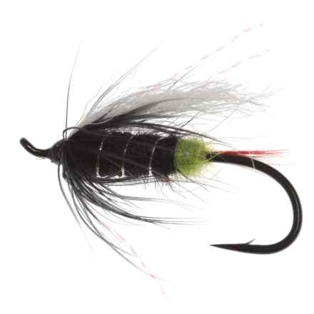 Montana Fly Company Green Butt Skunk Salmon Fly - Dozen in Green - Closeouts