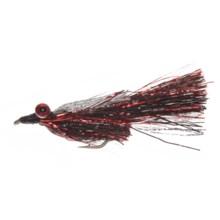Montana Fly Company Kraft's Kreelex Saltwater Fly - Dozen in Black/Red/Silver - Closeouts