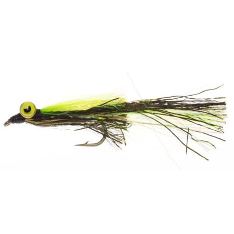 Montana Fly Company Kraft's Kreelex Saltwater Fly - Dozen in Brown/Yellow
