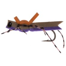 Montana Fly Company More-or-Less Hopper Dry Fly - Dozen in Purple - Closeouts