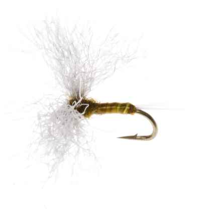 Montana Fly Company Polywing Spinner Dry Fly - Dozen in Olive - Closeouts