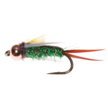 Montana Fly Company Psyco Prince Nymph - Dozen in Green - Closeouts