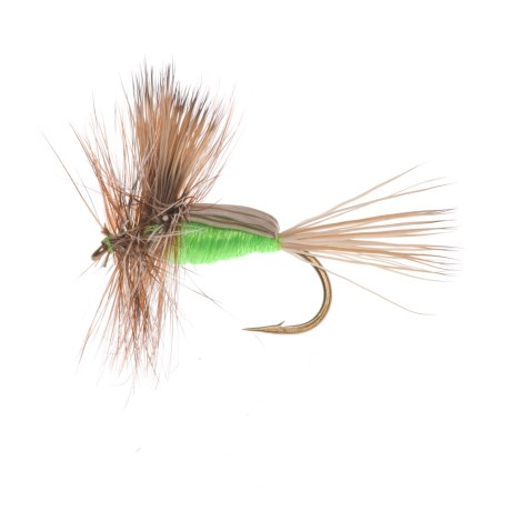 Montana Fly Company Royal Humpy Dry Fly - Dozen in Chartreuse