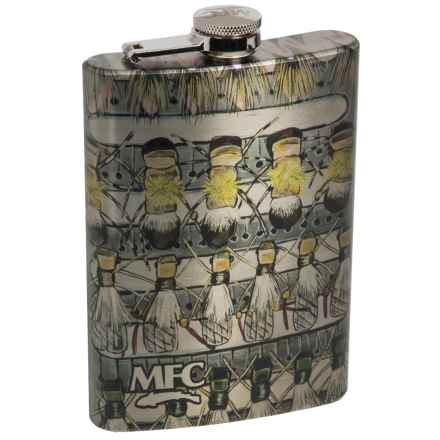 Montana Fly Company Stainless Steel Hip Flask in Udesens Hopper Fly Box - Closeouts