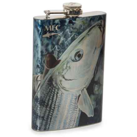 Montana Fly Company Stainless Steel Hip Flask in White/One Last Look Bonefish - Closeouts
