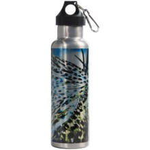 Montana Fly Company Stainless Steel Vacuum-Insulated Water Bottle - 22 fl.oz. in Sylvesters Sapphire - Closeouts