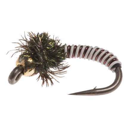 Montana Fly Company Tungsten Brassie Nymph Fly - Dozen in Brown - Closeouts
