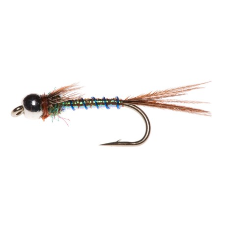 Montana Fly Company Tungsten Lightning Bug Nymph Fly - Dozen in Pearl