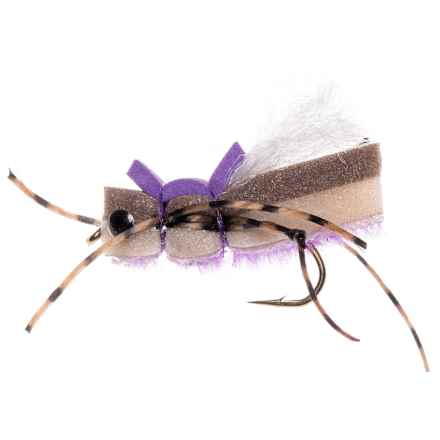 Montana Fly Company Yeti Hopper Dry Fly - Dozen in Purple - Closeouts