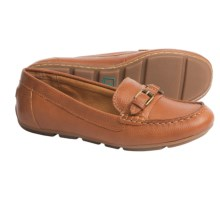 Montana Minda Leather Shoes - Slip-Ons (For Women) in Luggage - Closeouts