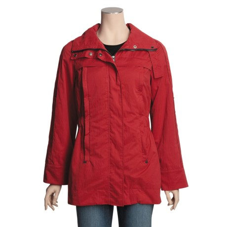 MontanaCo Elastic Waist Jacket - Roll-Up Sleeves (For Women) in Red
