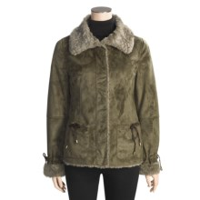 MontanaCo Faux-Shearling Jacket - Reversible (For Women) in Sage - Closeouts