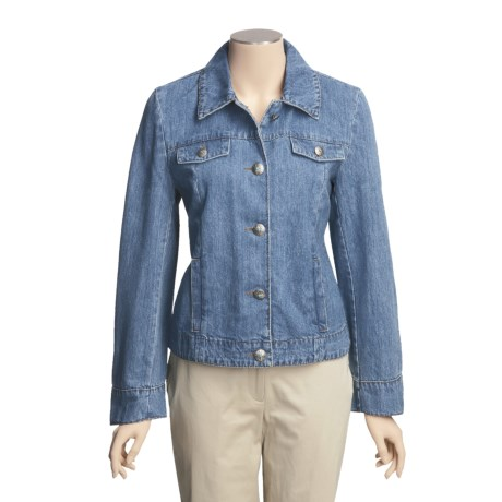 MontanaCo Jean Jacket - Pick-Stitch Detail (For Women) in Denim