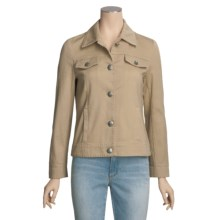 MontanaCo Jean Jacket - Pick-Stitch Detail (For Women) in Tan - Closeouts
