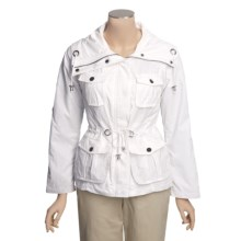 MontanaCo Nautical Jacket - Drawcord Waist, Roll-Up Sleeves (For Women) in White - Closeouts
