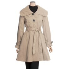 MontanaCo Trench Coat - Belted, Leopard Print Lining (For Women) in Tan - Closeouts